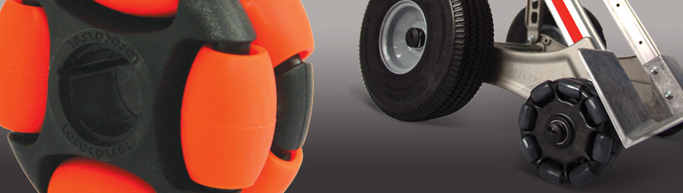 ROTACASTER MULTI-DIRECTIONAL WHEELS. THE ULTIMATE IN MANOEUVRABILITY